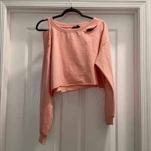 Forever 21 size medium pink long sleeve with holes